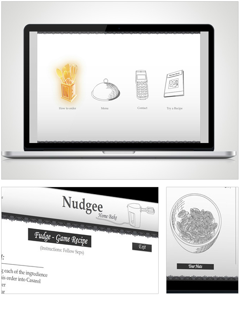 Web & Interactive Design - Nudgee home bakery